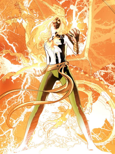 The comic featured an interesting fractal style of rendering the Phoenix Force.  It grew on me.