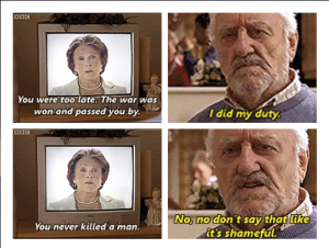 Wilfred has many great moments, but this one is my favorite.