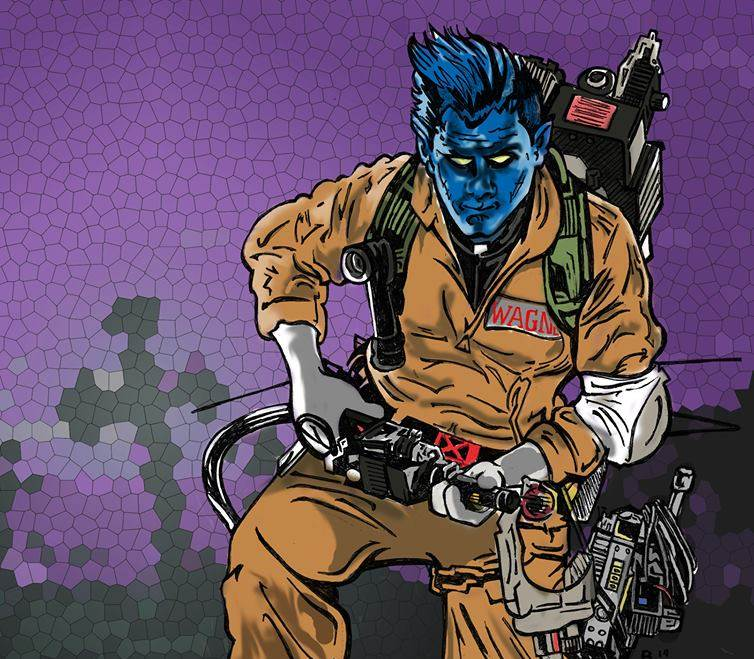 Nightcrawler Ghostbuster close-up