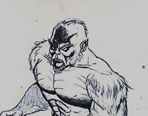 Beast sketch close up