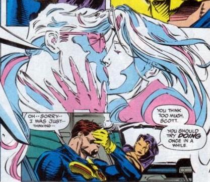 Psylocke seduces Cyclops
