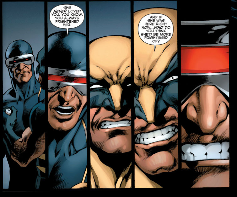 Cyclops and Wolverine role reversal