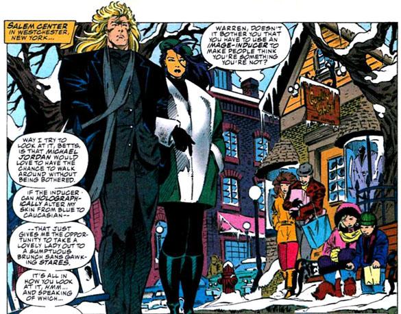 Psylocke and Archangel walk and talk