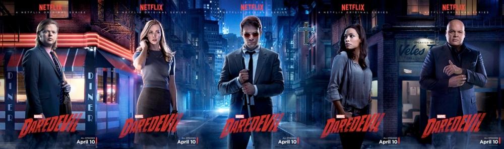 Five Daredevil posters