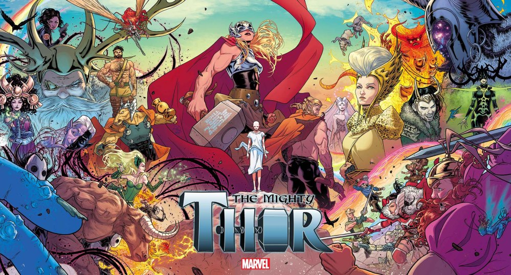 Mighty Thor 2015 gatefold cover