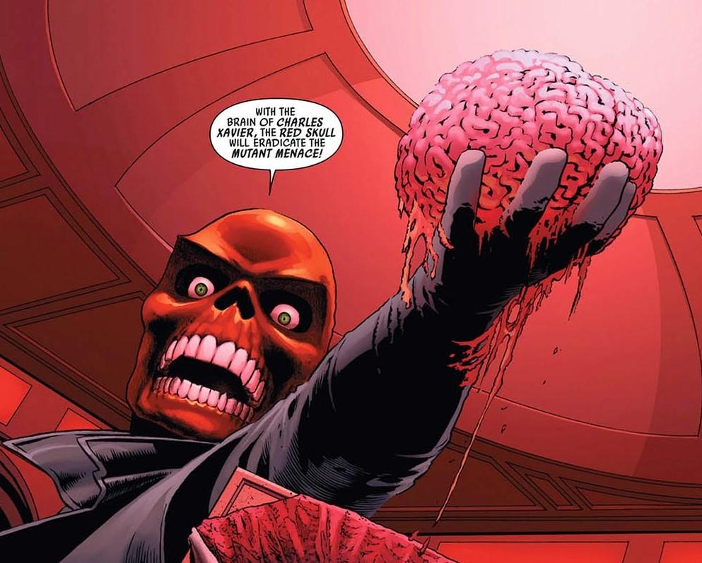 Red Skull and Xavier's Brain