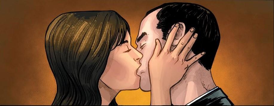 Agent Coulson and Lola kiss