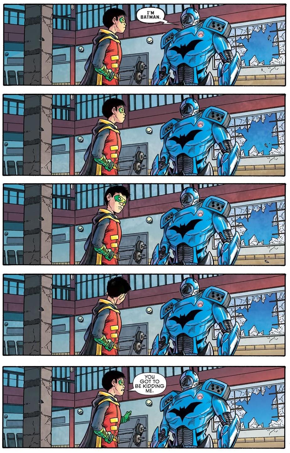 Damian Wayne Meets Batman
