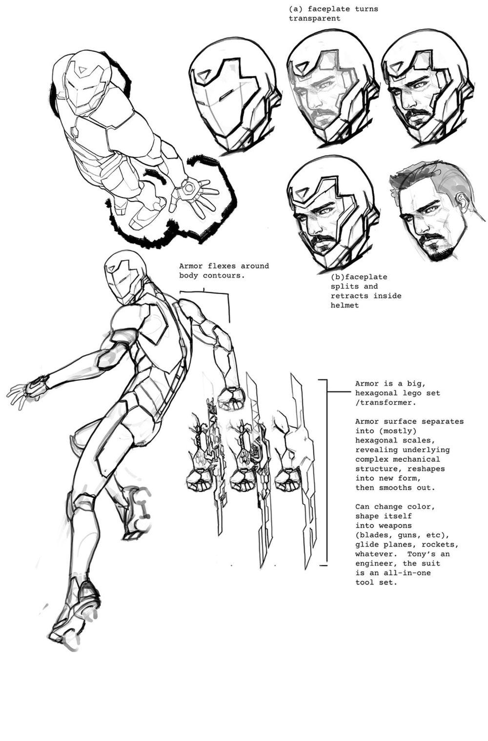 Invincible Iron Man Armor concept by David Marquez
