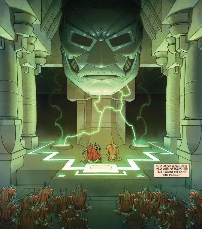Secret Wars Thors bow to Doom