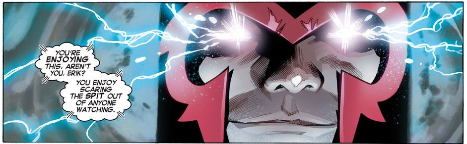 Magneto Enjoying Himself