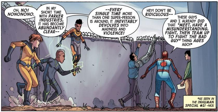Inhumans and Spider-Man