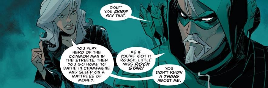 Green Arrow and Black Canary bicker